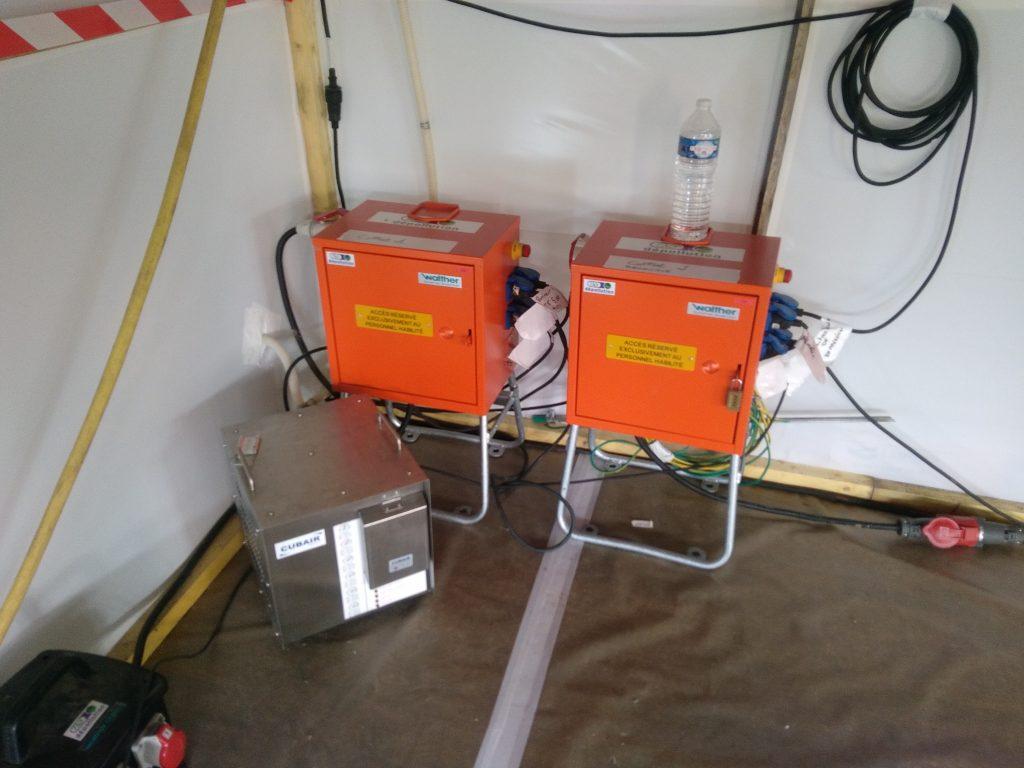 Coffrets de chantier 32 ampères - Système CUBAIR pour l'adduction d'air