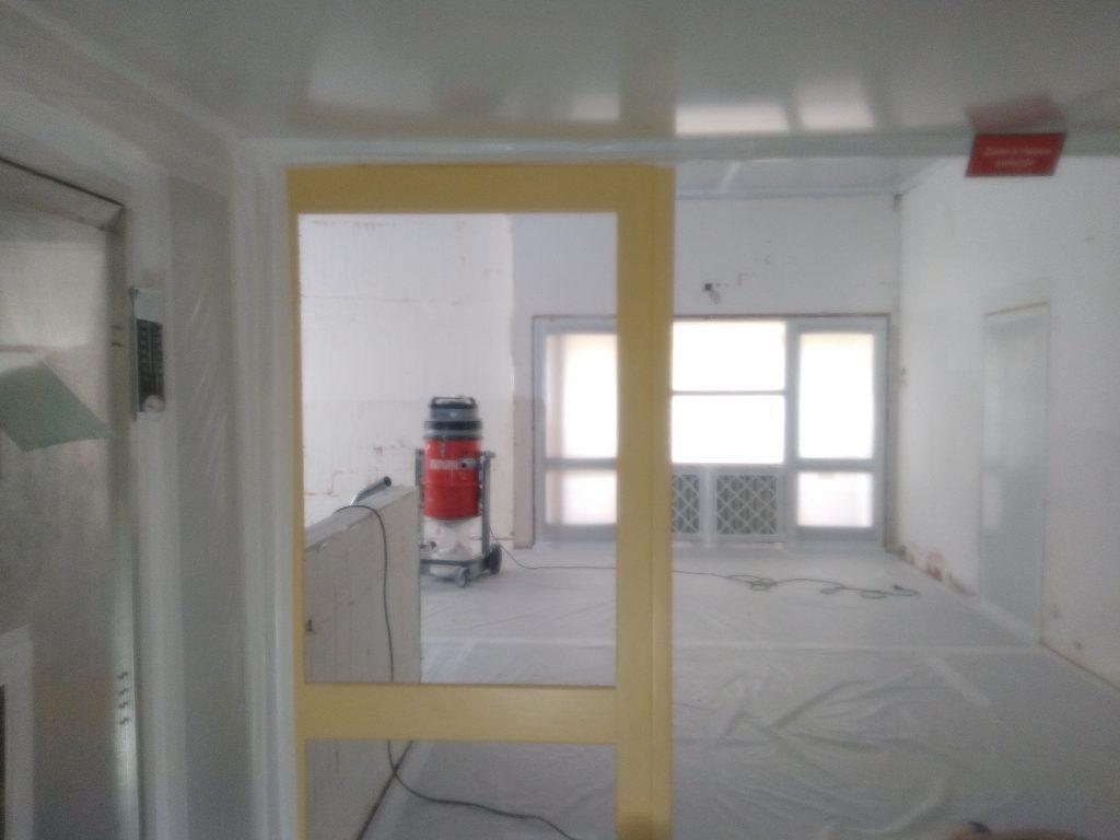 Zone amiante intérieure - Retrait de peinture amiantée sur plâtre